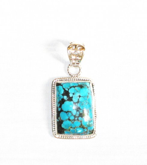 PN274  Turquoise Pendant in Sterling silver