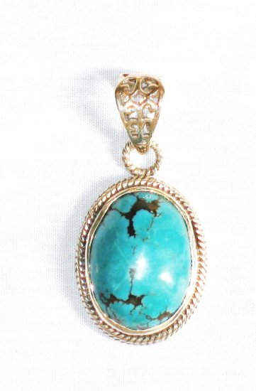 PN278  Turquoise Pendant in Sterling silver