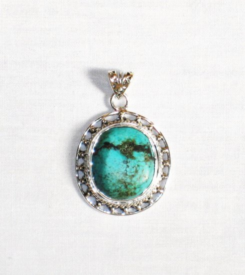 PN283  Turquoise Pendant in Sterling silver
