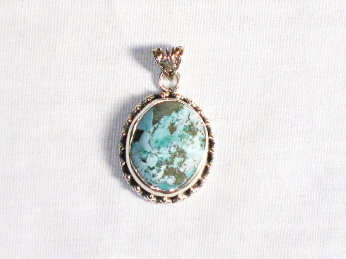 PN286  Turquoise Pendant in Sterling silver