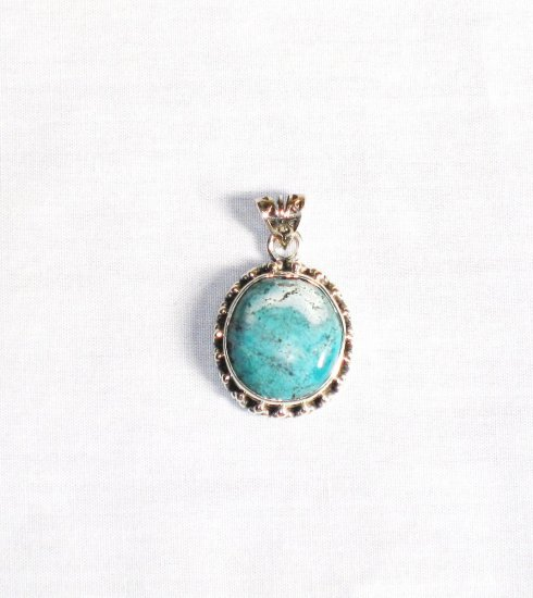PN287  Turquoise Pendant in Sterling silver