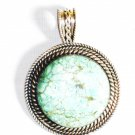 PN296  Turquoise Pendant in Sterling silver
