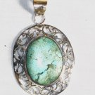 PN297  Turquoise Pendant in Sterling silver