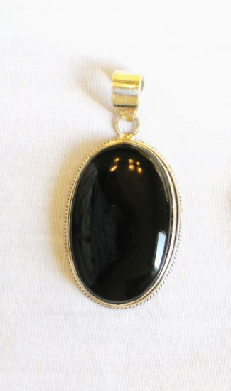 PN359 Onyx Pendant in Sterling Silver