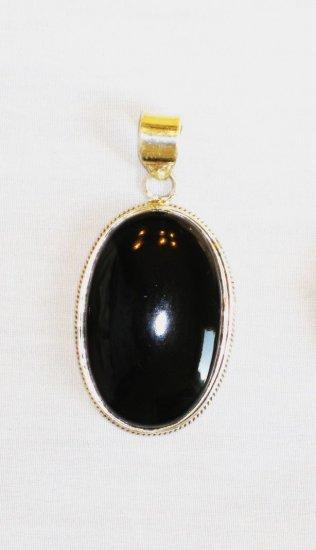 PN361 Onyx Pendant in Sterling Silver