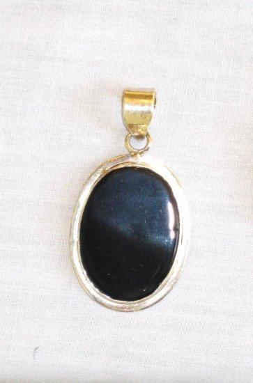 PN376 Onyx Pendant in Sterling Silver