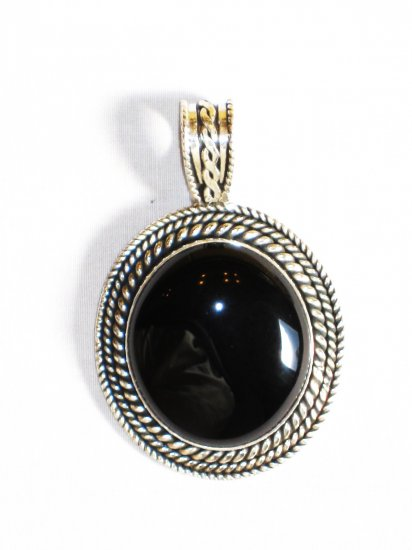 PN304 Onyx Pendant in Sterling Silver
