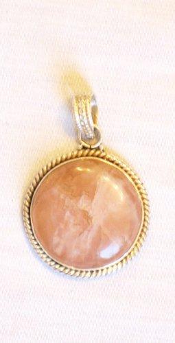 PN496 Rose Quartz Pendant in Sterling Silver