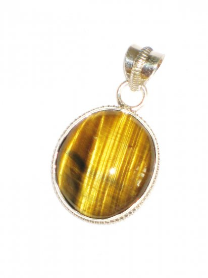 ST627 Tiger's Eye Pendant in Sterling Silver