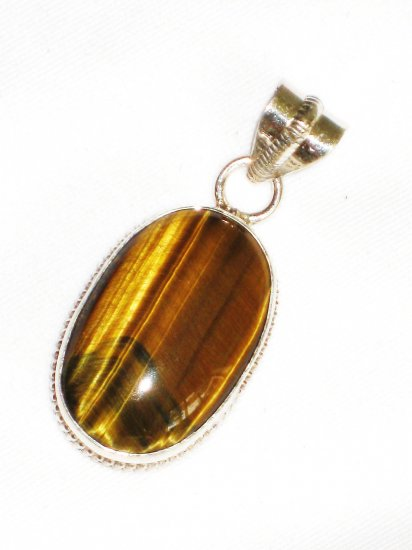 ST635 Tiger's Eye Pendant in Sterling Silver