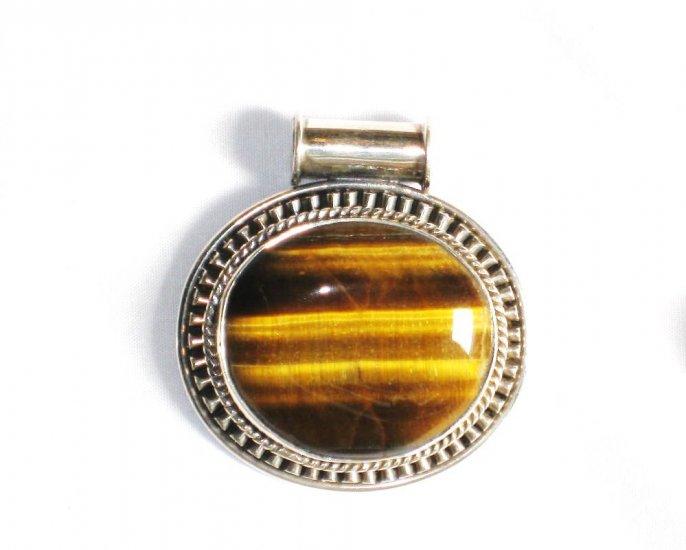 PN196 Tiger's Eye Pendant in Sterling Silver