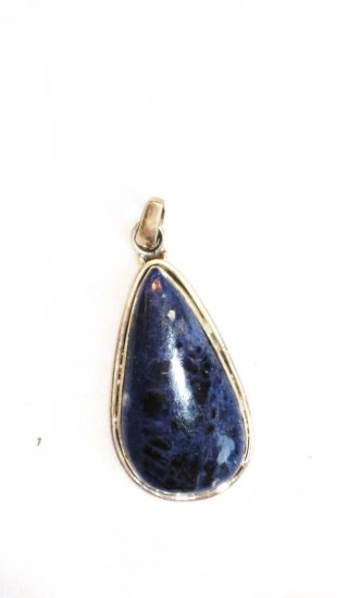 PN067 Lapis Lazuli Pendant in Sterling Silver