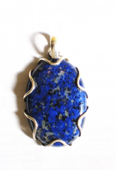 PN310 Lapis Lazuli Pendant in Sterling Silver