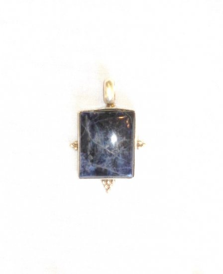 PN452 Lapis Lazuli Pendant in Sterling Silver