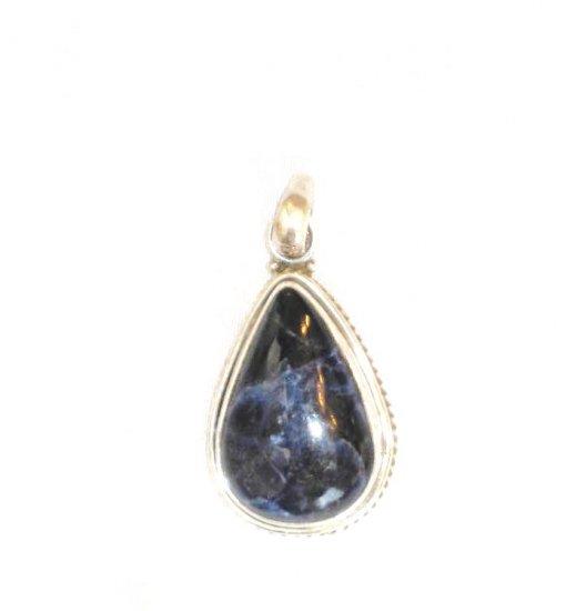 PN466 Lapis Lazuli Pendant in Sterling Silver