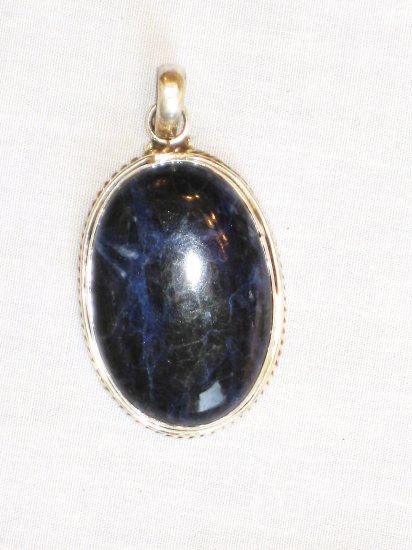PN478 Lapis Lazuli Pendant in Sterling Silver