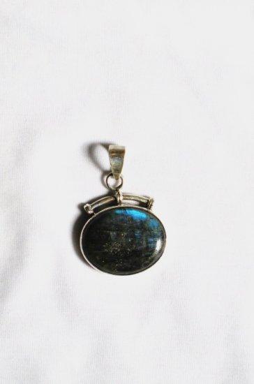 PN225 Labradorite Pendant in Sterling Silver