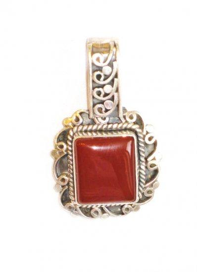PN069 Carnelian Pendant in Sterling Silver