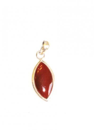 PN077 Red Jasper Pendant in Sterling Silver