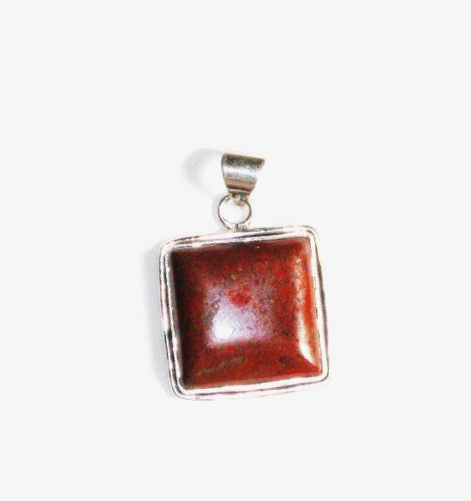 PN150 Red Jasper Pendant in Sterling Silver