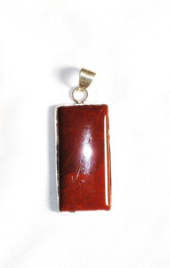PN157 Red Jasper Pendant in Sterling Silver