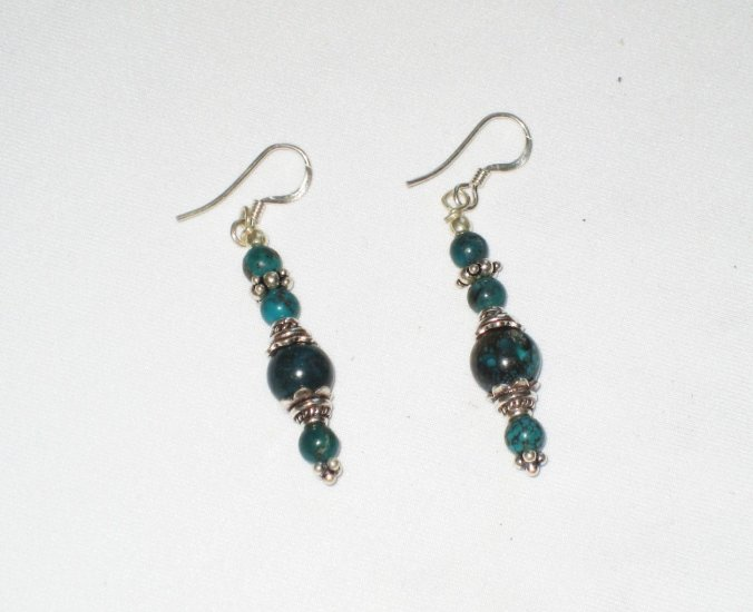 ER024 Turquoise Earrings Set in Sterling Silver