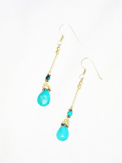 ST611 Turquoise Earrings Set in Sterling Silver