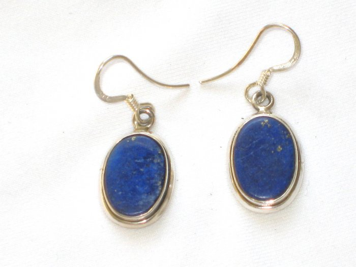 ER003 Lapis Lazuli Earrings set in Sterling Silver