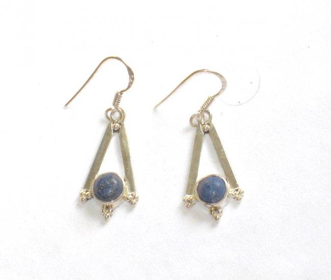 ER082 Lapis Lazuli Earrings Set in Sterling Silver - SOLD