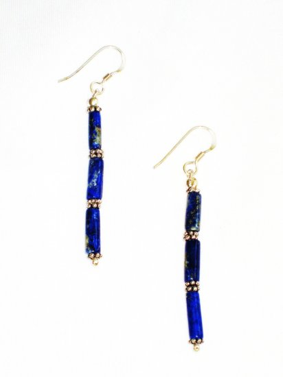 ST617 Lapis Lazuli Earrings Set in Sterling Silver - SOLD