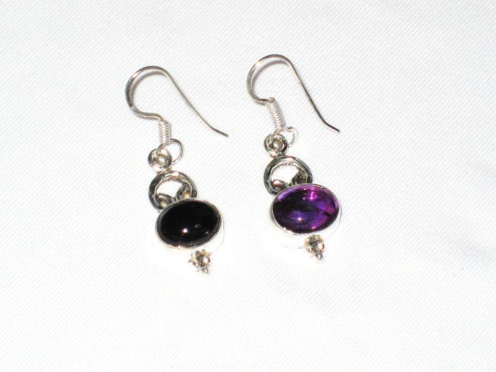 ER036 Amethyst Earrings set in sterling silver