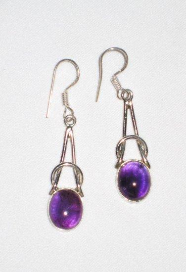 ER037 Amethyst Earrings set in sterling silver