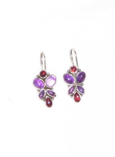ER039 Amethyst Earrings set in sterling silver