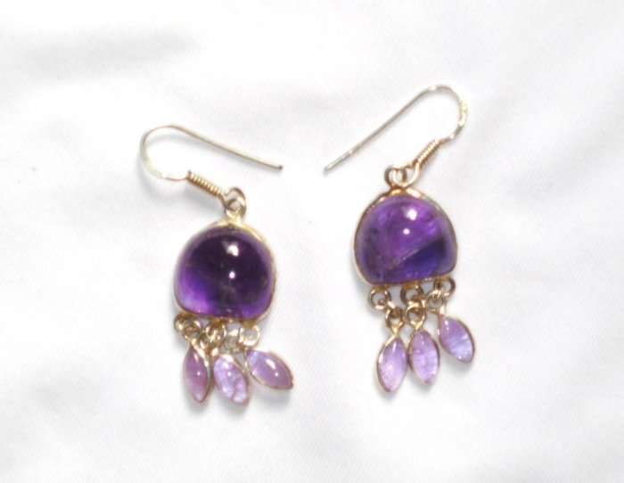 ER046 Amethyst Earrings set in sterling silver