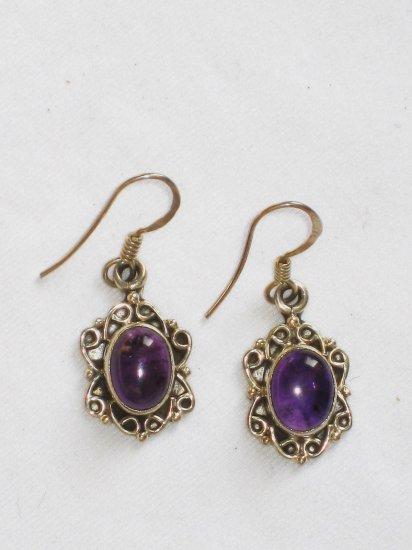 ER084 Amethyst Earrings set in sterling silver