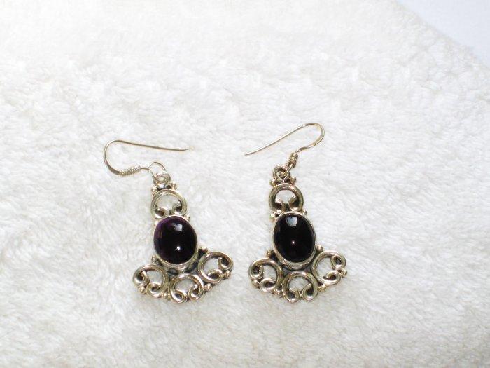 ER086 Amethyst Earrings set in sterling silver