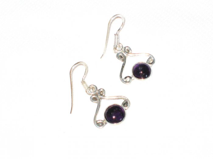 ST386 Amethyst Earrings set in sterling silver