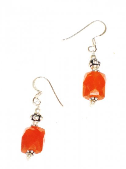 ST586 Carnelian Earrings set in sterling silver