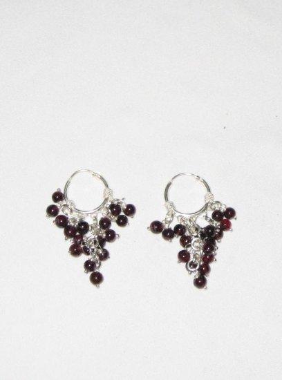 ER025 Garnet Earrings set in sterling silver