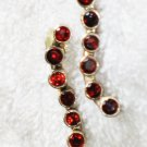 ER088 Garnet Earrings set in sterling silver