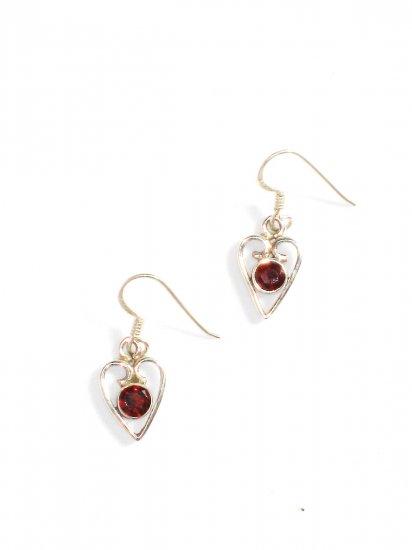ST256 Garnet Earrings set in sterling silver