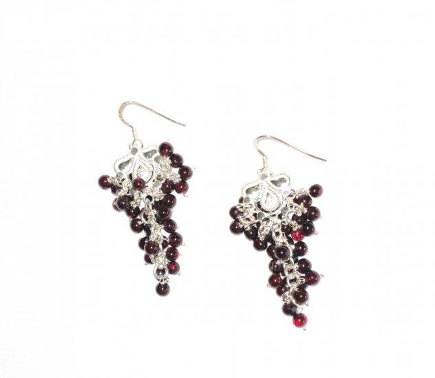 ST380 Garnet Earrings set in sterling silver