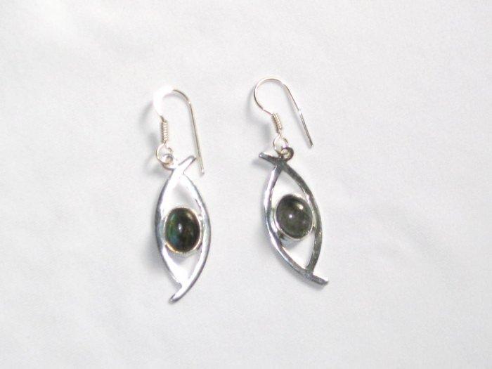 ER042 Labradorite Earrings set in sterling silver - SOLD