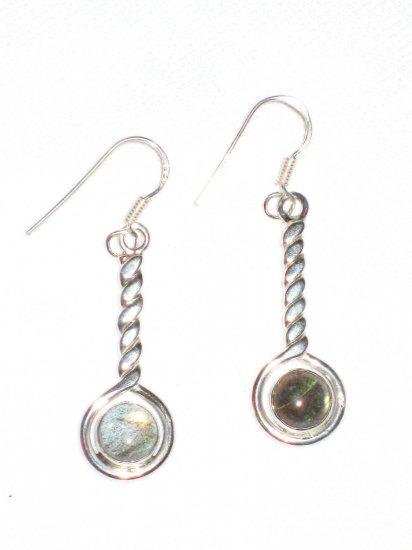 ST395 Labradorite Earrings set in sterling silver