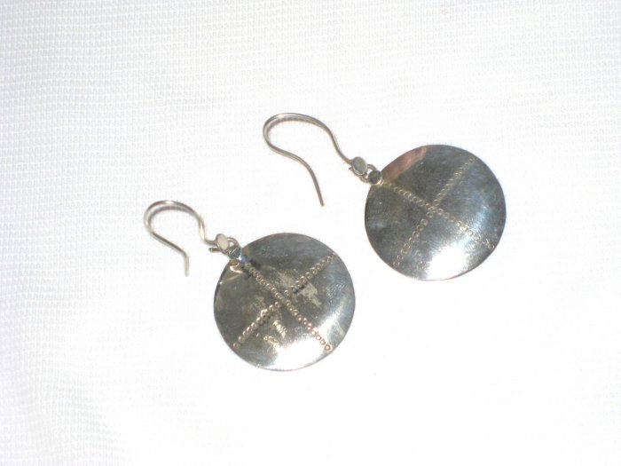 ST402 Oxidized Sterling Silver Earrings