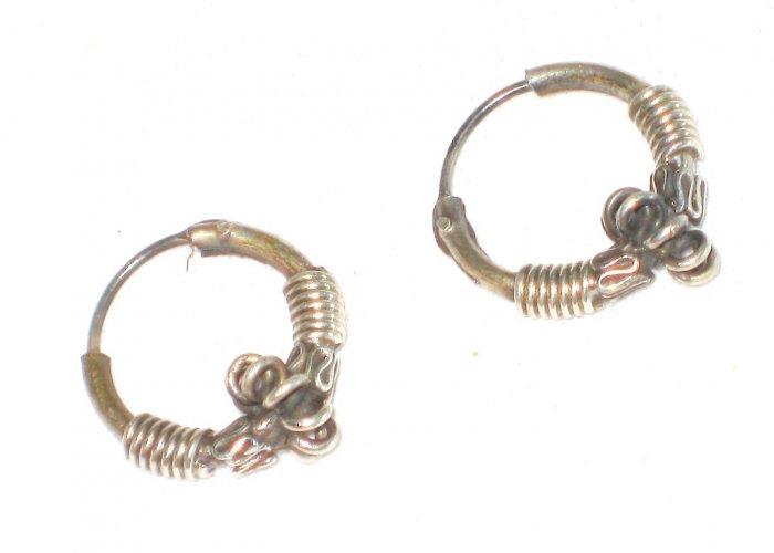 ST404 Oxidized Sterling Silver Earrings