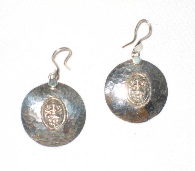 ST408 Oxidized Sterling Silver Earrings