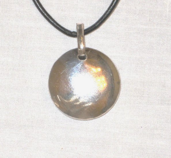 PN474 Oxidized Sterling Silver Pendant