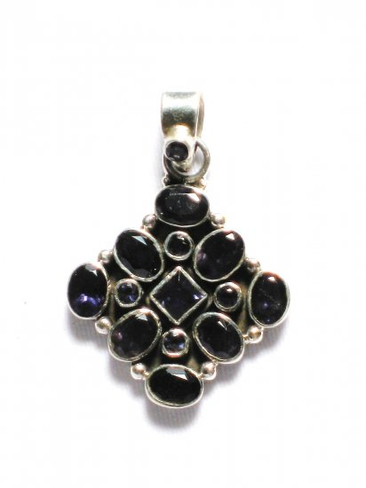 ST203       Amethyst Pendant in Sterling Silver - SOLD