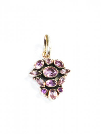 ST231     Amethyst Pendant in Sterling Silver